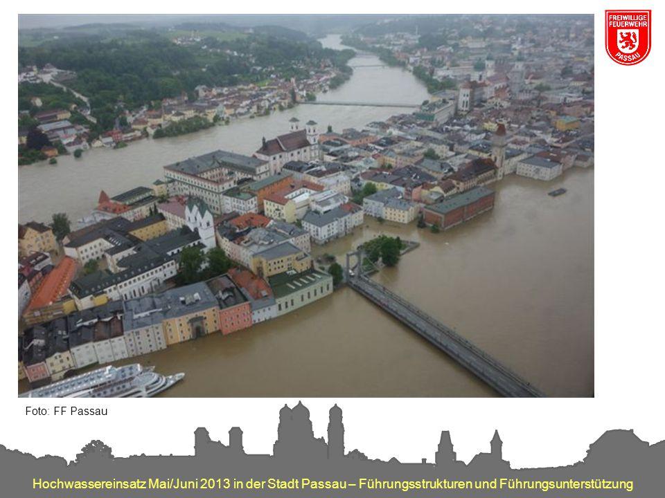 Hochwassereinsatz Mai/Juni 2013 in der Stadt Passau – Führungsstrukturen und Führungsunterstützung Foto: FF Passau