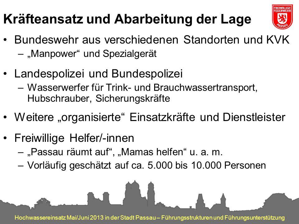 Hochwassereinsatz Mai/Juni 2013 in der Stadt Passau – Führungsstrukturen und Führungsunterstützung Kräfteansatz und Abarbeitung der Lage Bundeswehr au