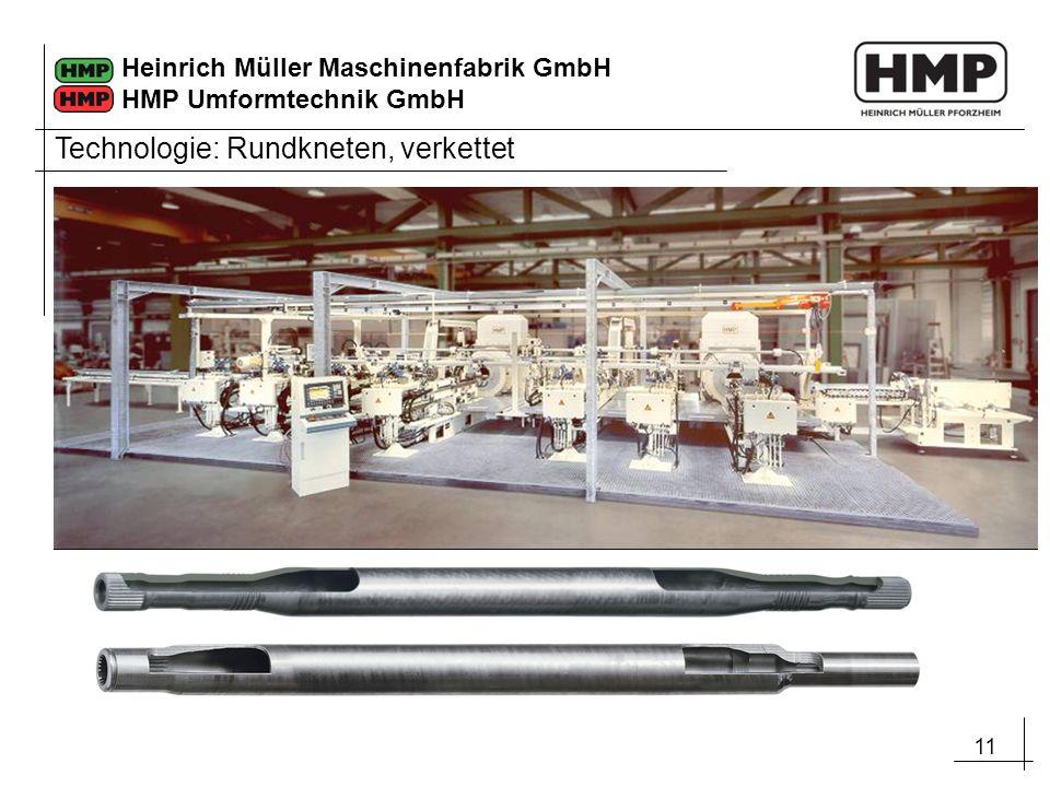 11 Heinrich Müller Maschinenfabrik GmbH HMP Umformtechnik GmbH Technologie: Rundkneten, verkettet