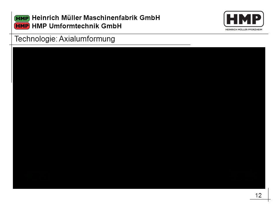 12 Heinrich Müller Maschinenfabrik GmbH HMP Umformtechnik GmbH Technologie: Axialumformung