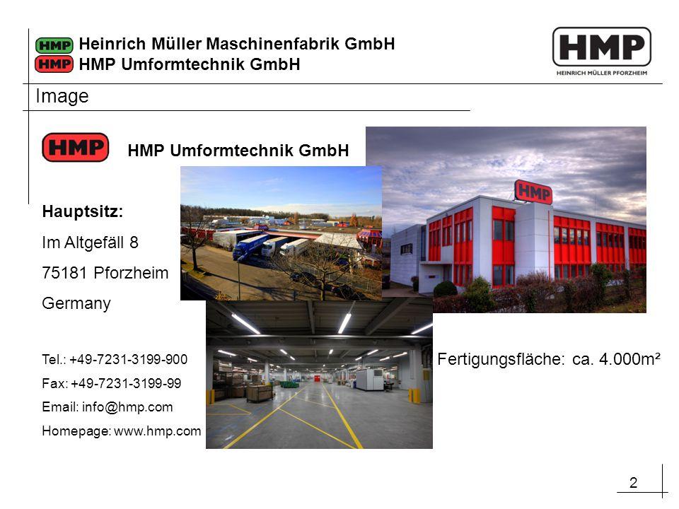 2 Heinrich Müller Maschinenfabrik GmbH HMP Umformtechnik GmbH Hauptsitz: Im Altgefäll 8 75181 Pforzheim Germany Tel.: +49-7231-3199-900 Fax: +49-7231-