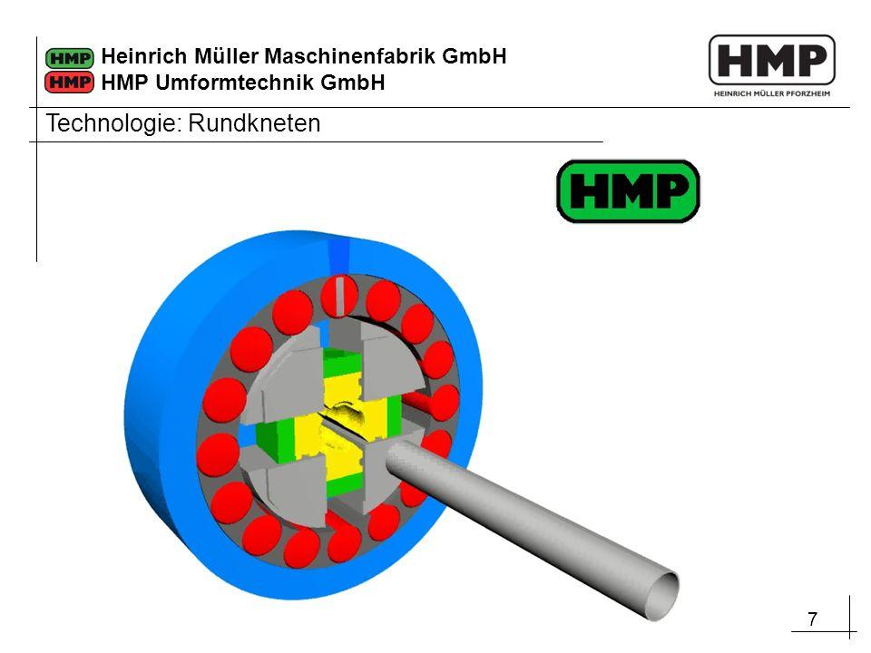 7 Heinrich Müller Maschinenfabrik GmbH HMP Umformtechnik GmbH Technologie: Rundkneten