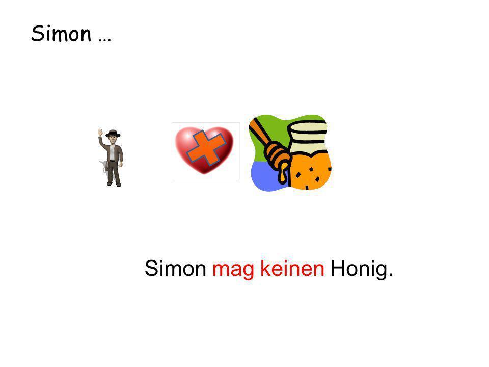 Simon … Simon mag keinen Honig.