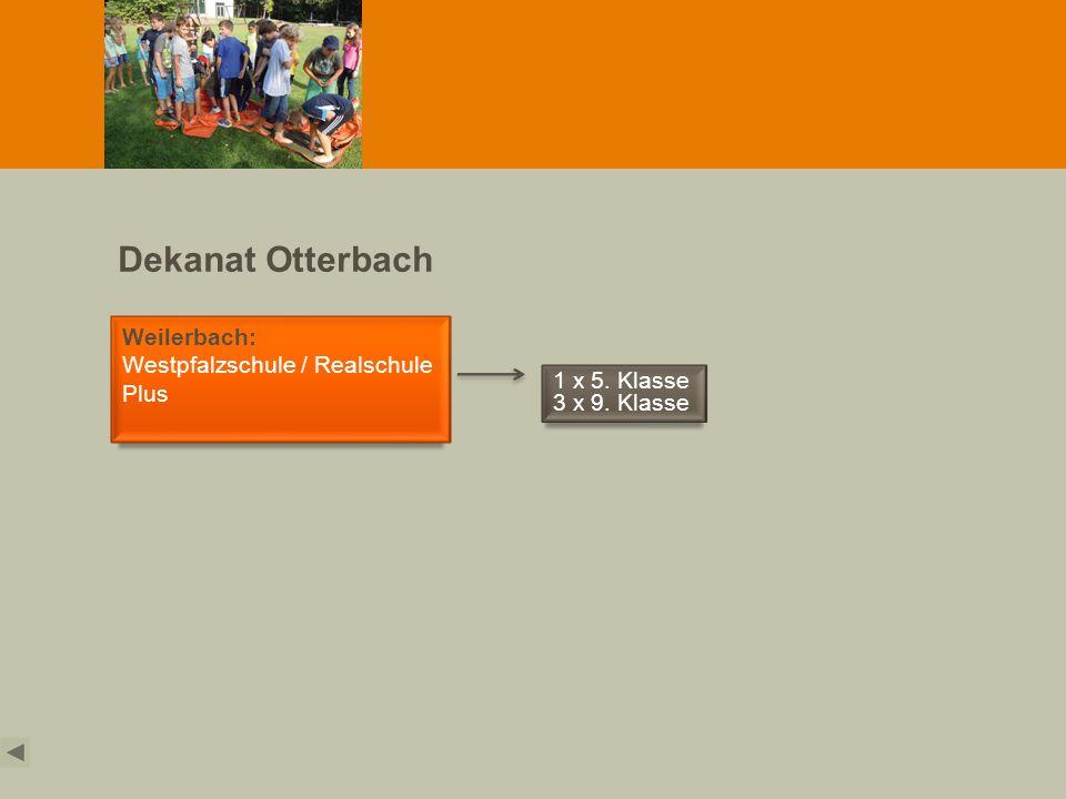 Dekanat Otterbach Weilerbach: Westpfalzschule / Realschule Plus 1 x 5. Klasse 3 x 9. Klasse