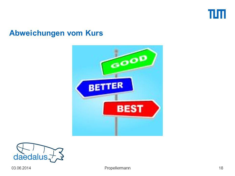 Abweichungen vom Kurs 03.06.2014Propellermann18