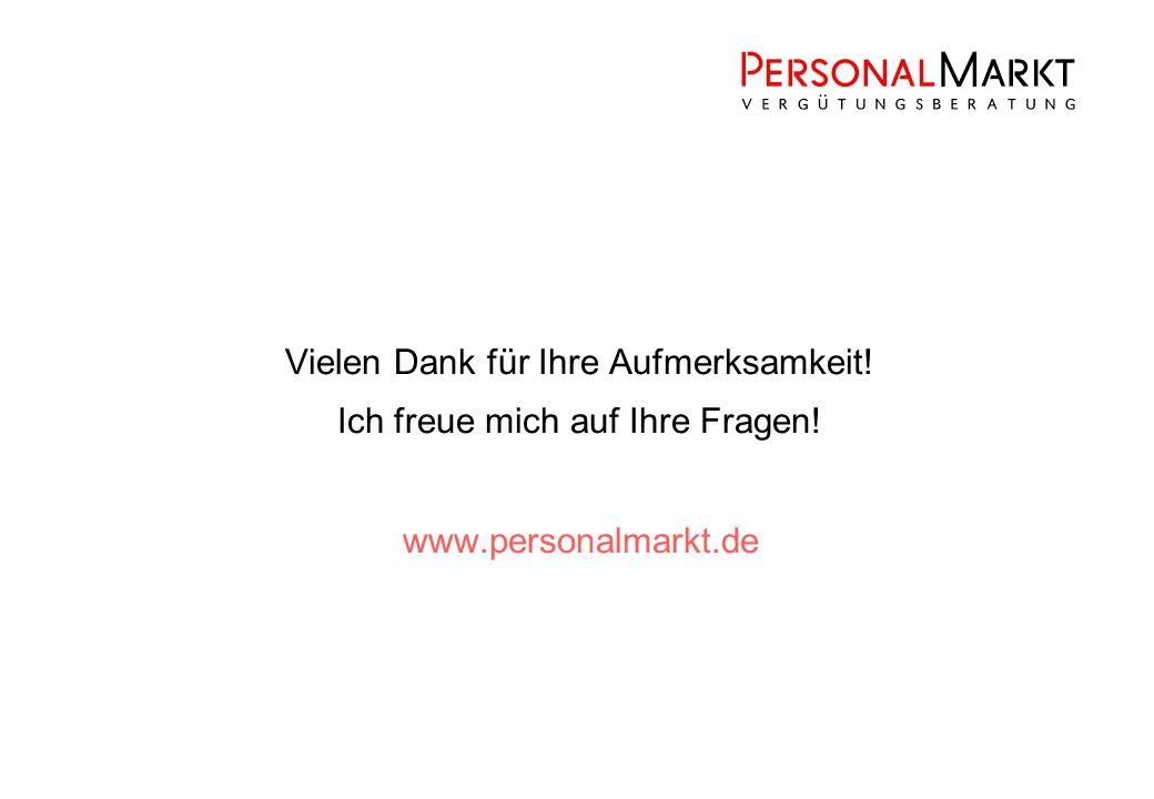 Vielen Dank für Ihre Aufmerksamkeit! Ich freue mich auf Ihre Fragen! www.personalmarkt.de