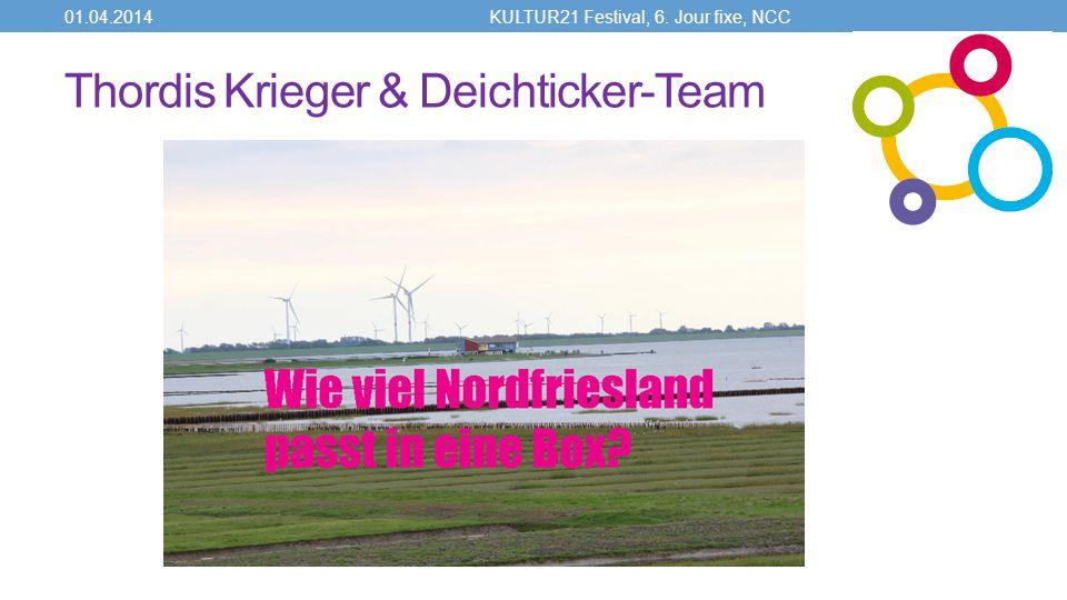 Thordis Krieger & Deichticker-Team 01.04.2014KULTUR21 Festival, 6. Jour fixe, NCC