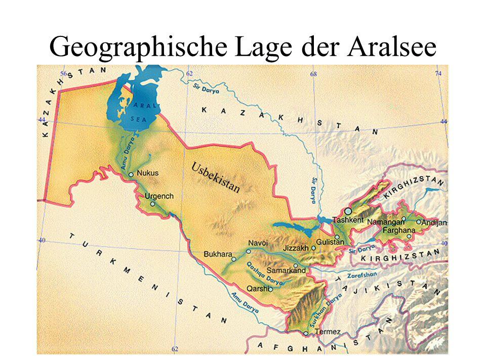 Geographische Lage der Aralsee Usbekistan
