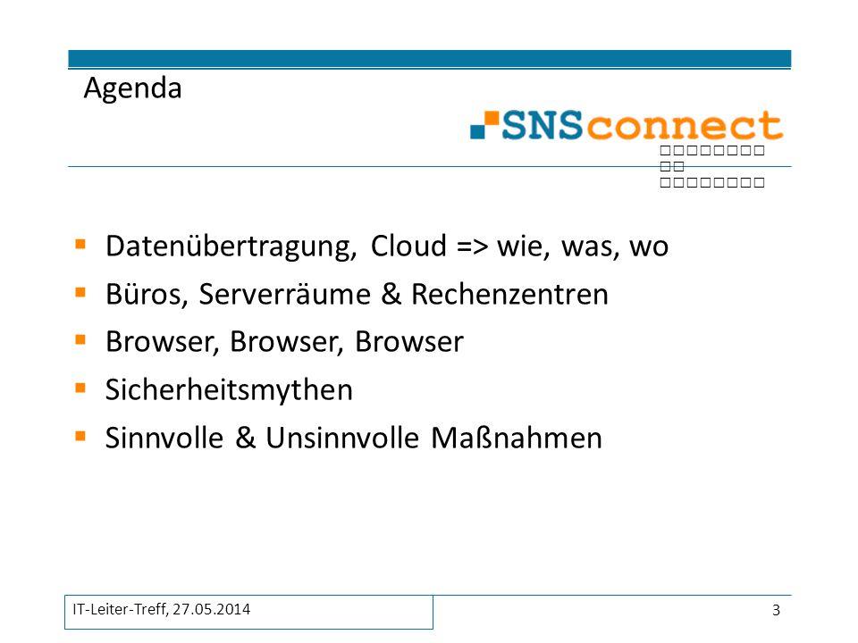 inspired by security Sicherheitsmythen 14 IT-Leiter-Treff, 27.05.2014
