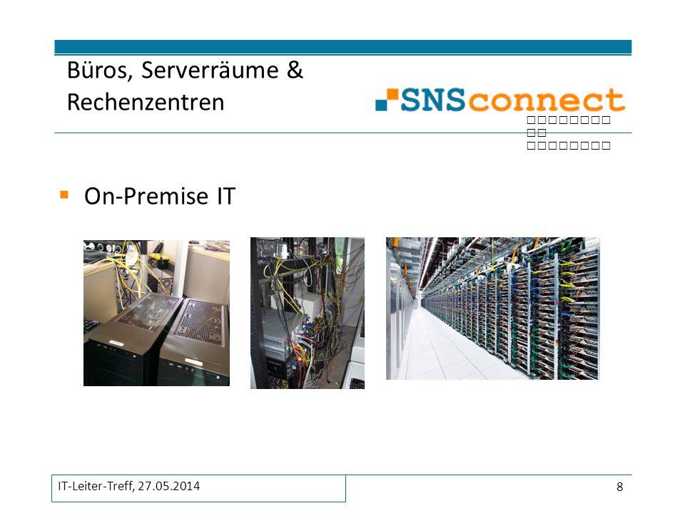inspired by security  On-Premise IT Büros, Serverräume & Rechenzentren 8 IT-Leiter-Treff, 27.05.2014