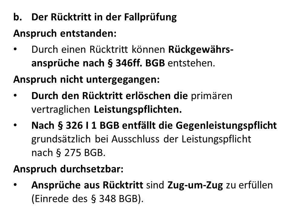 f.Ausschluss des Rücktritts § 323 BGB.