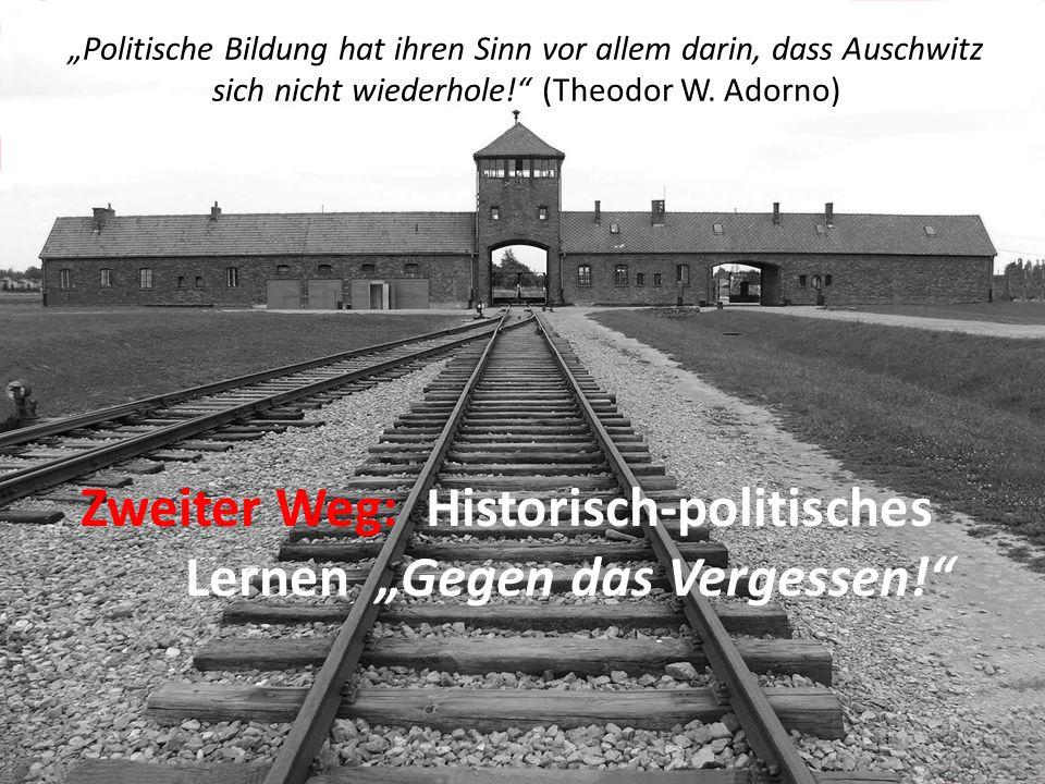 """""""Politische Bildung hat ihren Sinn vor allem darin, dass Auschwitz sich nicht wiederhole!"""" (Theodor W. Adorno) Zweiter Weg: Historisch-politisches Ler"""
