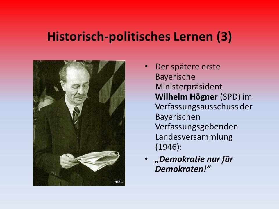 Historisch-politisches Lernen (3) Der spätere erste Bayerische Ministerpräsident Wilhelm Högner (SPD) im Verfassungsausschuss der Bayerischen Verfassu