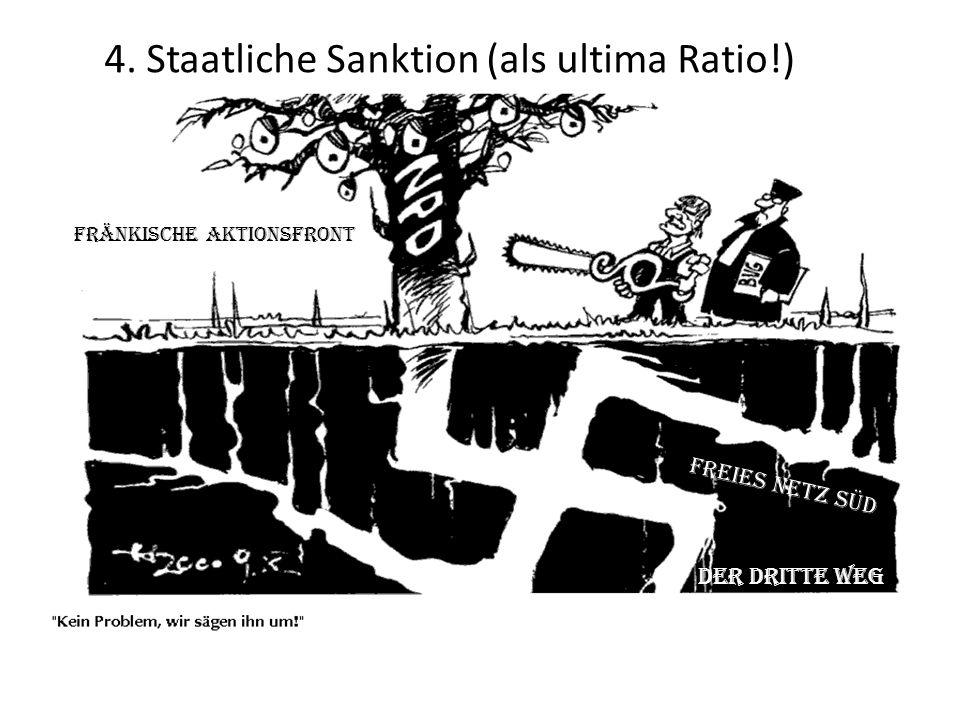 Fränkische Aktionsfront Freies Netz Süd Der Dritte Weg 4. Staatliche Sanktion (als ultima Ratio!)