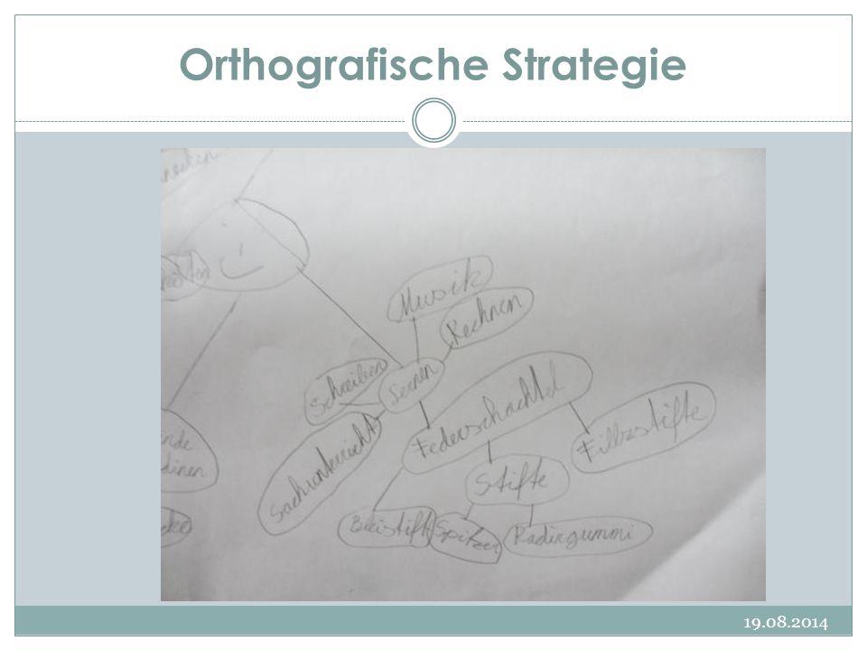 Orthografische Strategie 19.08.2014
