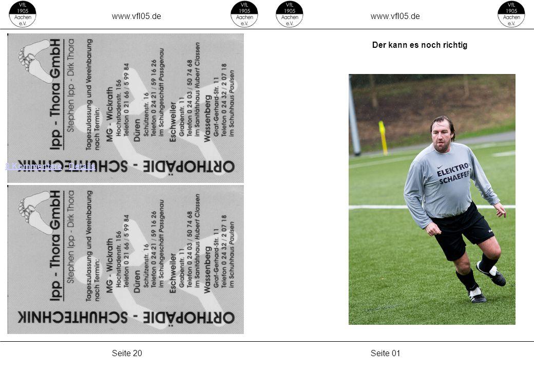 www.vfl05.de Seite 19Seite 02 Kurzer Bericht vom letzten Sonntag Die 1.