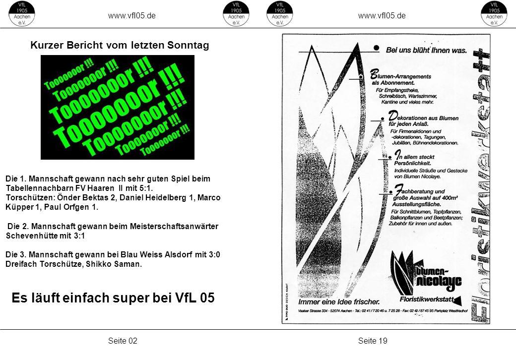 www.vfl05.de Seite 03Seite 18 Unsere heutiger Gegner der 1.