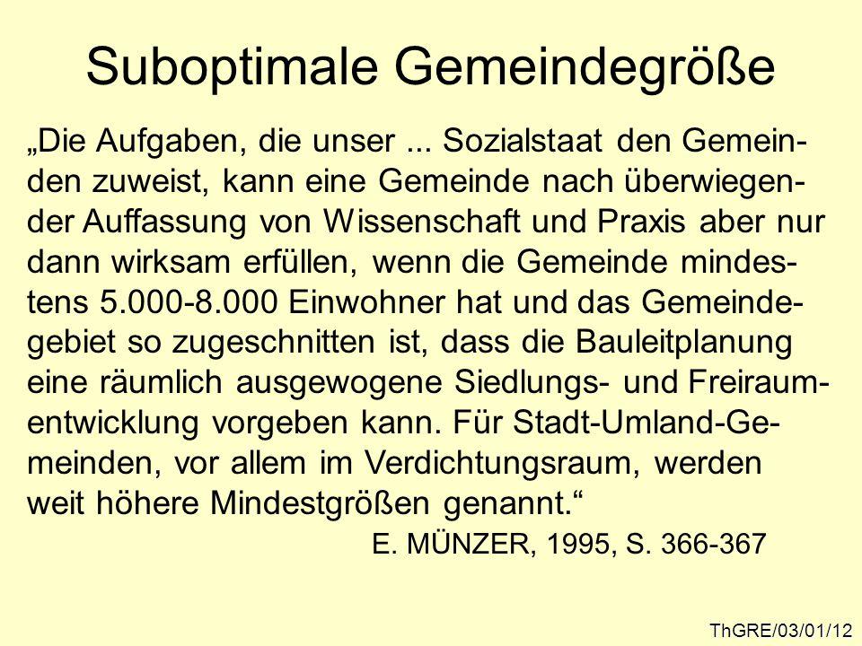 """Suboptimale Gemeindegröße ThGRE/03/01/12 """"Die Aufgaben, die unser..."""