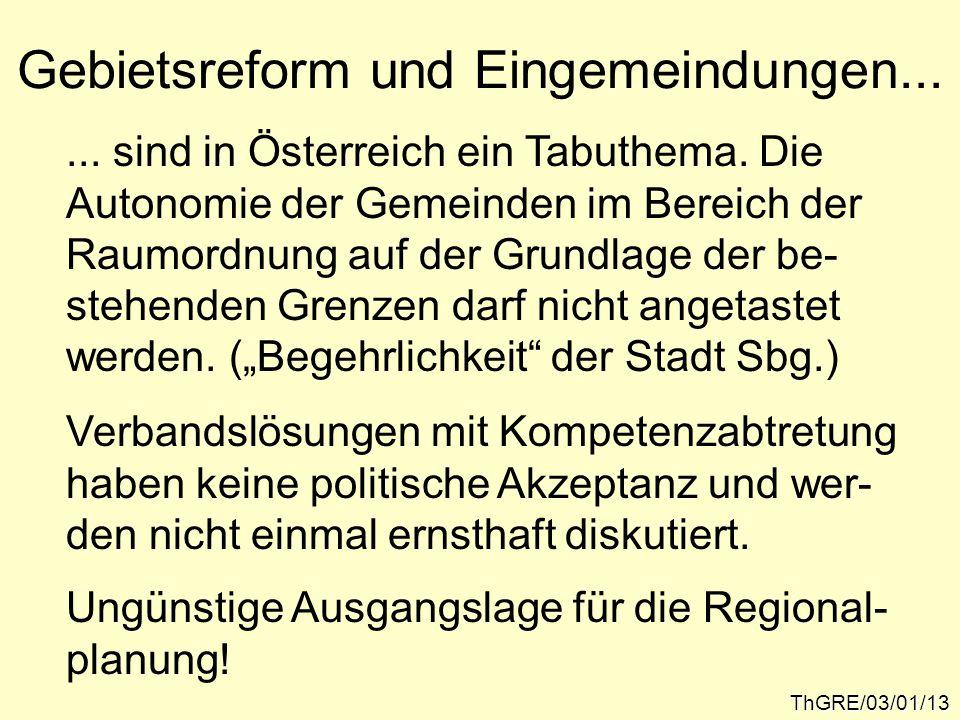 Gebietsreform und Eingemeindungen... ThGRE/03/01/13...