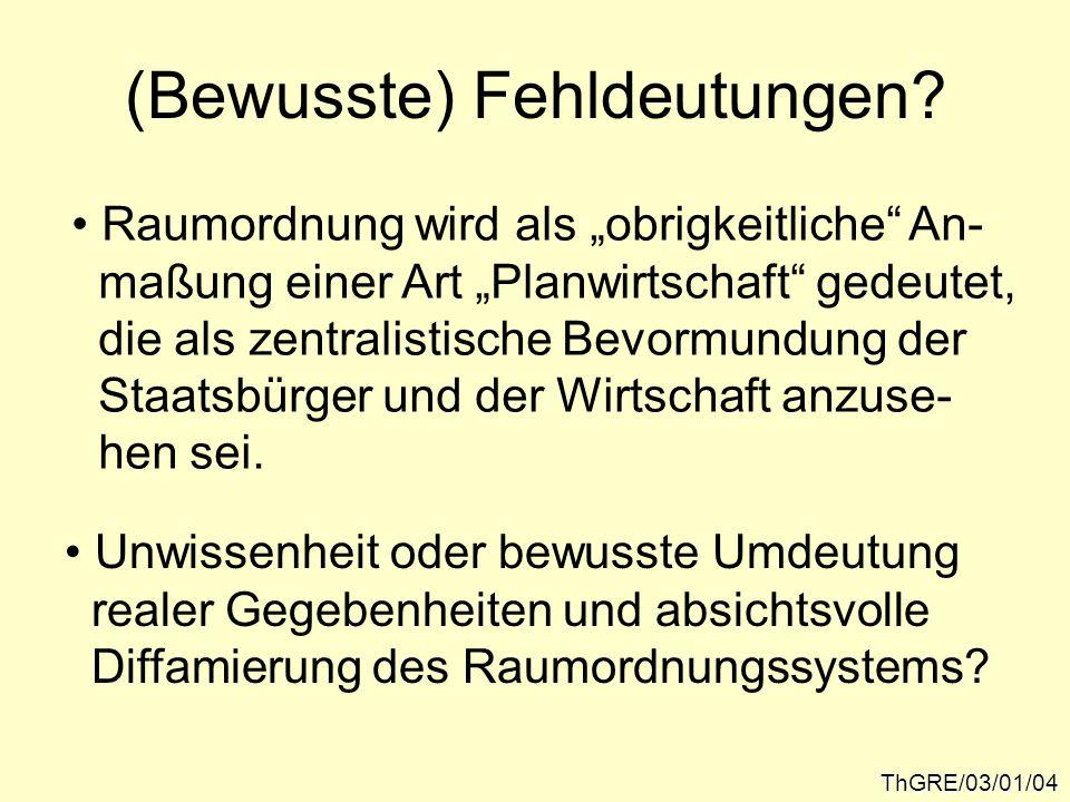 Der politische Stellenwert der Raumordnung...ThGRE/03/01/05...