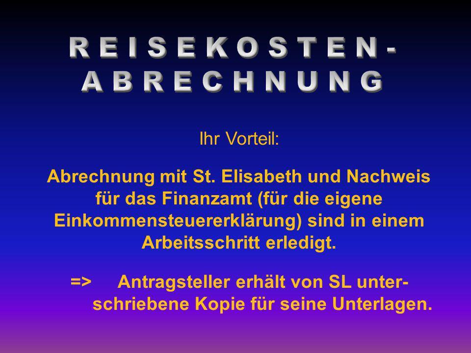Ihr Vorteil: Abrechnung mit St. Elisabeth und Nachweis für das Finanzamt (für die eigene Einkommensteuererklärung) sind in einem Arbeitsschritt erledi