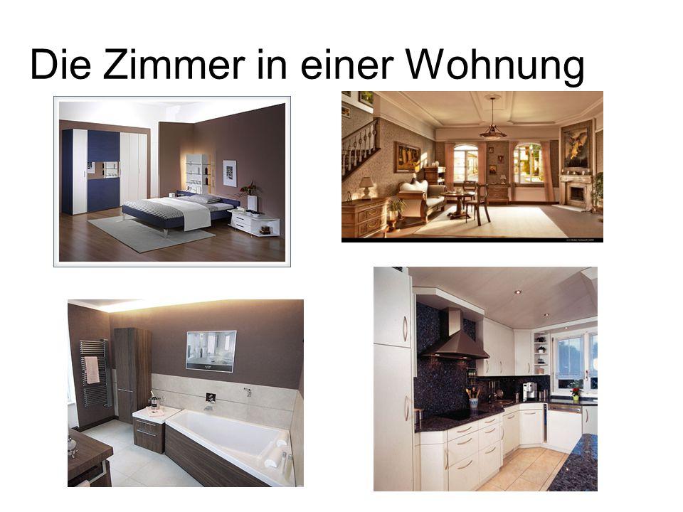 Die Zimmer in einer Wohnung