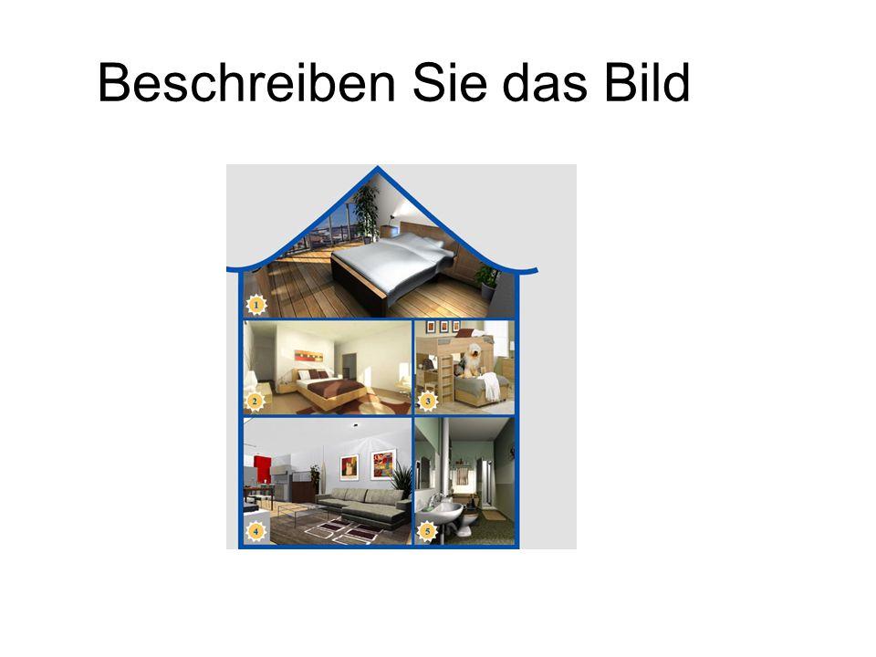Die Ausstattung Arbeitsblatt: Die Möbel und die Zimmer im HausArbeitsblatt: Die Möbel und die Zimmer im Haus