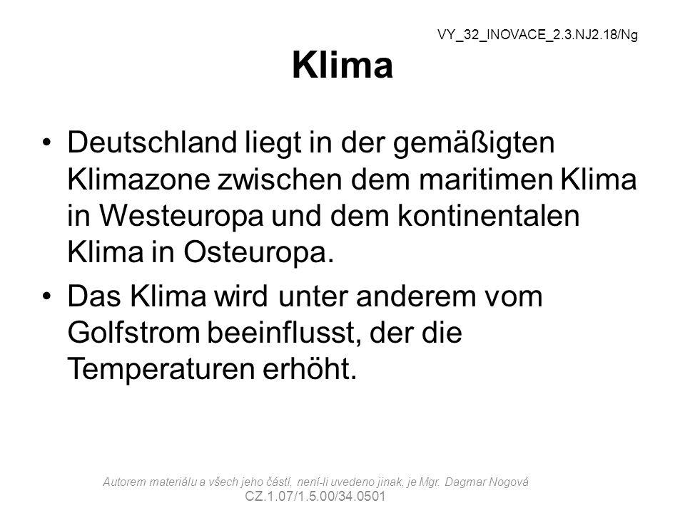 Klima Deutschland liegt in der gemäßigten Klimazone zwischen dem maritimen Klima in Westeuropa und dem kontinentalen Klima in Osteuropa.