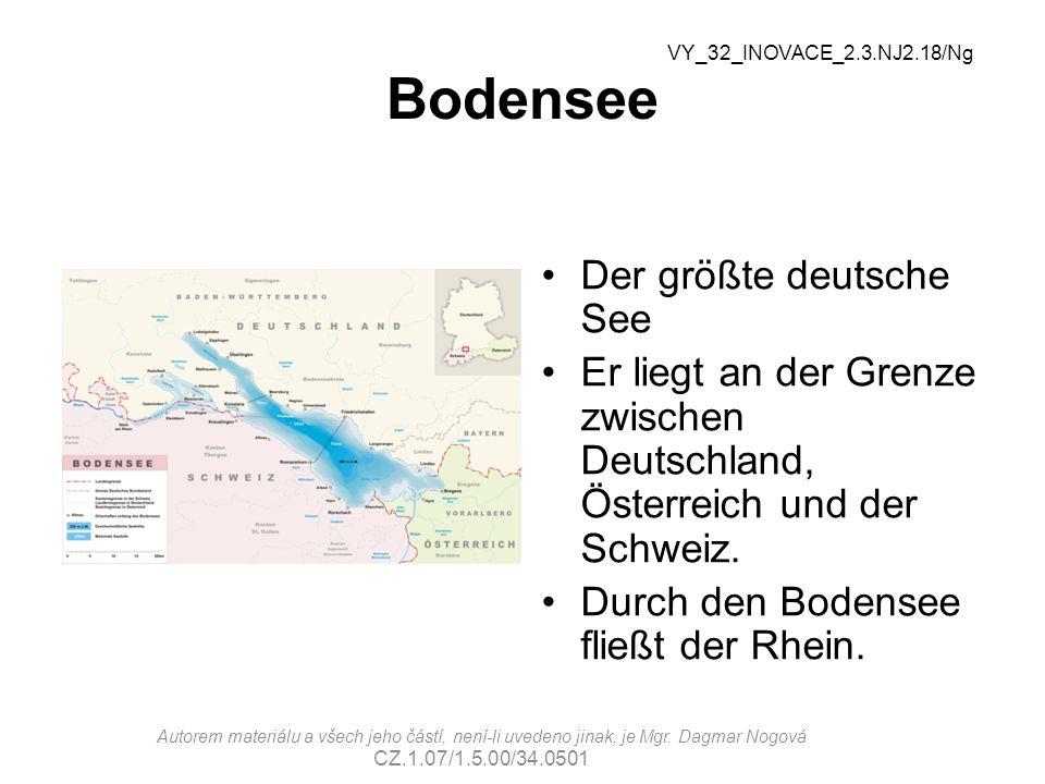 Bodensee Der größte deutsche See Er liegt an der Grenze zwischen Deutschland, Österreich und der Schweiz.