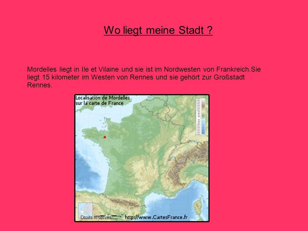Wo liegt meine Stadt ? Mordelles liegt in Ile et Vilaine und sie ist im Nordwesten von Frankreich.Sie liegt 15 kilometer im Westen von Rennes und sie