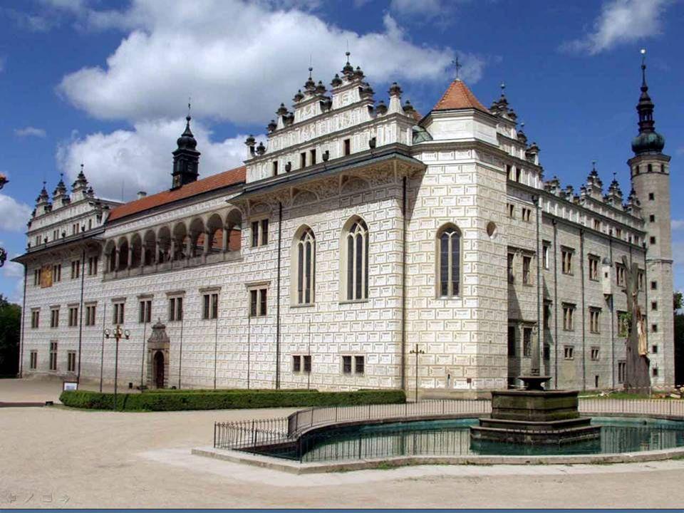 Das Schloss in Litomyšl im italienischen Stil. Es stammt aus dem 16. Jahrhundert, zwei Jahrhunderte später wurde mit spätbarocken Elementen abgeschlos