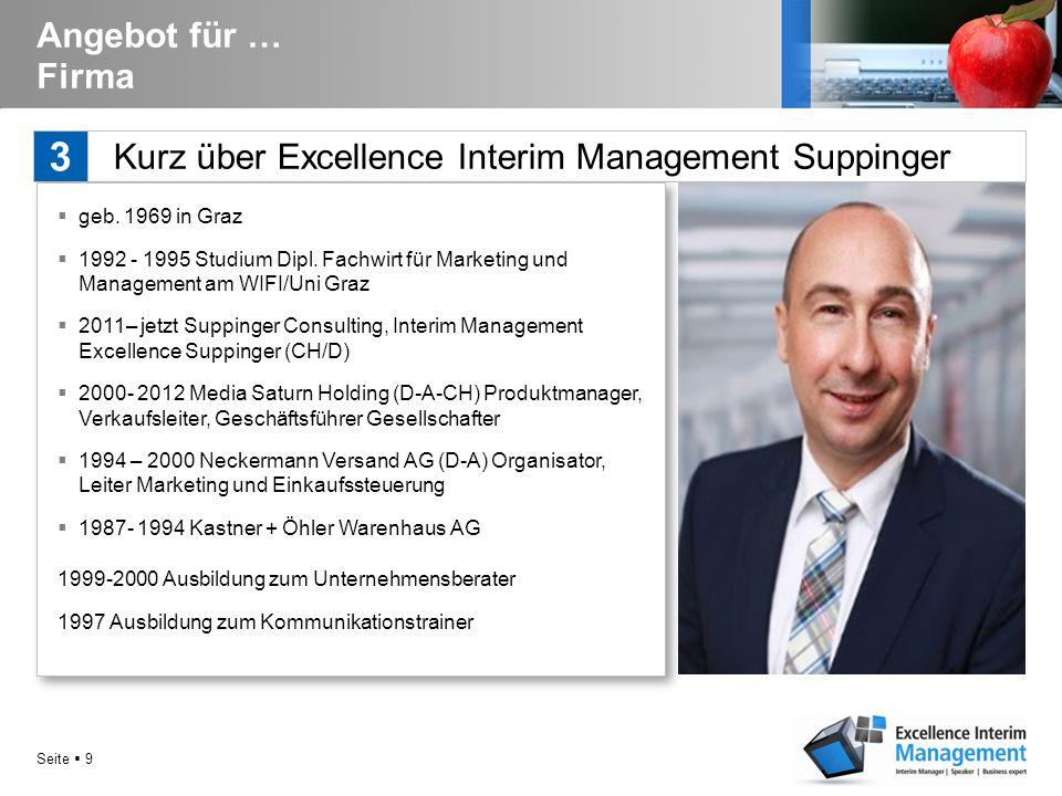 Seite  9 Kurz über Excellence Interim Management Suppinger 3 Angebot für … Firma  geb.