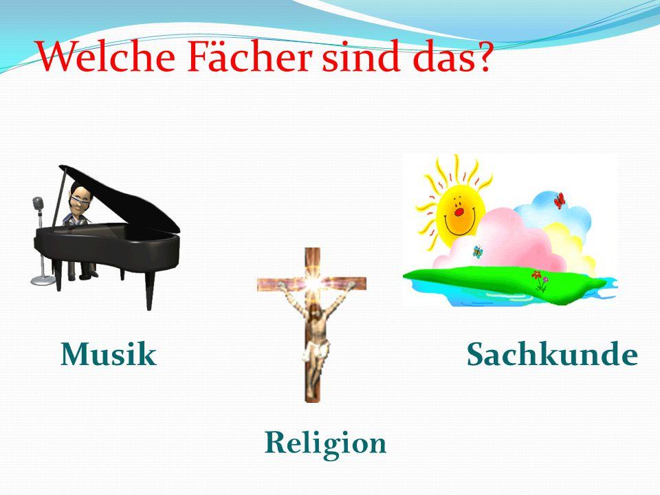 Welche Fächer sind das? Russisch Deutsch Werken Informatik