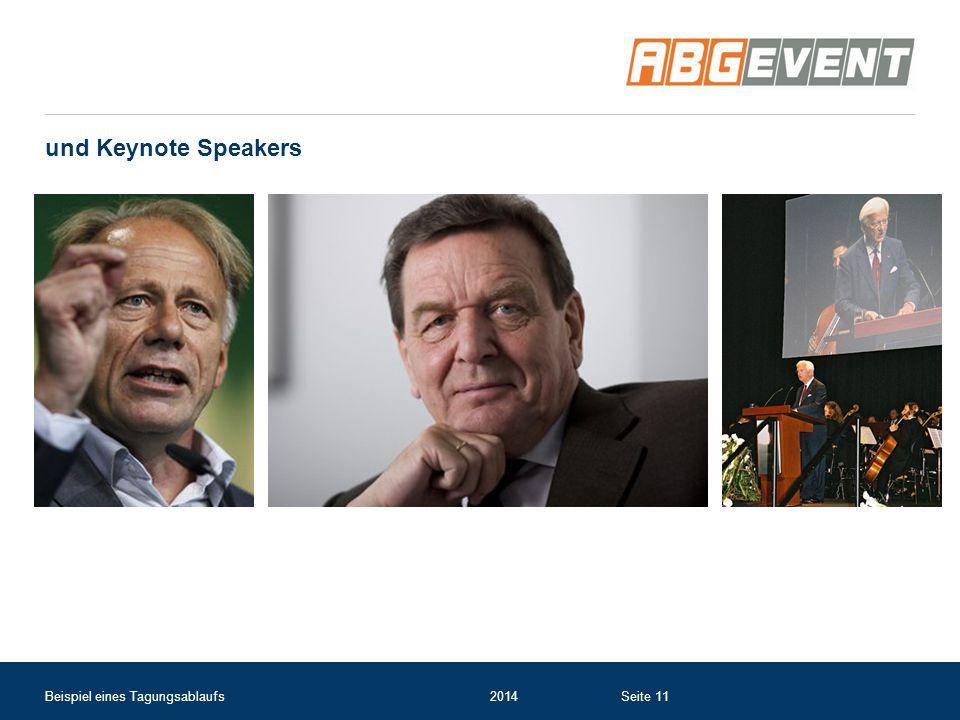 und Keynote Speakers Beispiel eines Tagungsablaufs2014Seite 11