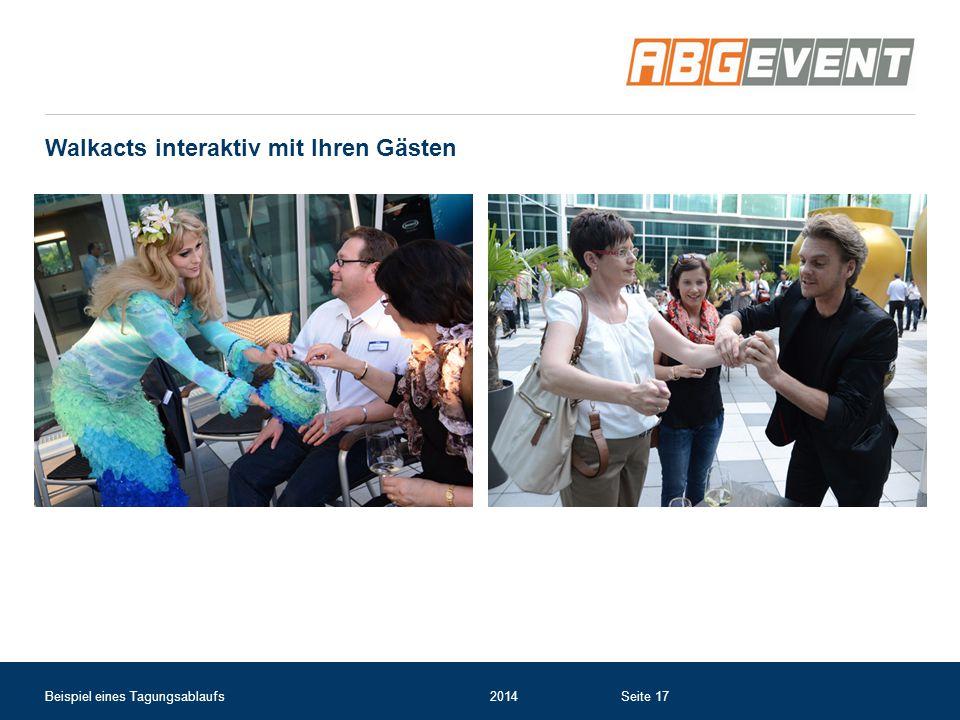 Walkacts interaktiv mit Ihren Gästen Beispiel eines Tagungsablaufs2014Seite 17