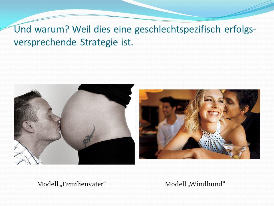 """Und warum? Weil dies eine geschlechtspezifisch erfolgs- versprechende Strategie ist. Modell """"Familienvater""""Modell """"Windhund"""""""