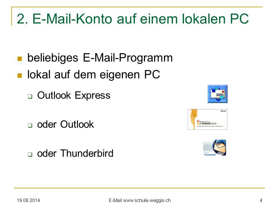 19.08.2014 E-Mail www.schule-weggis.ch 3 und so sieht's dann aus …