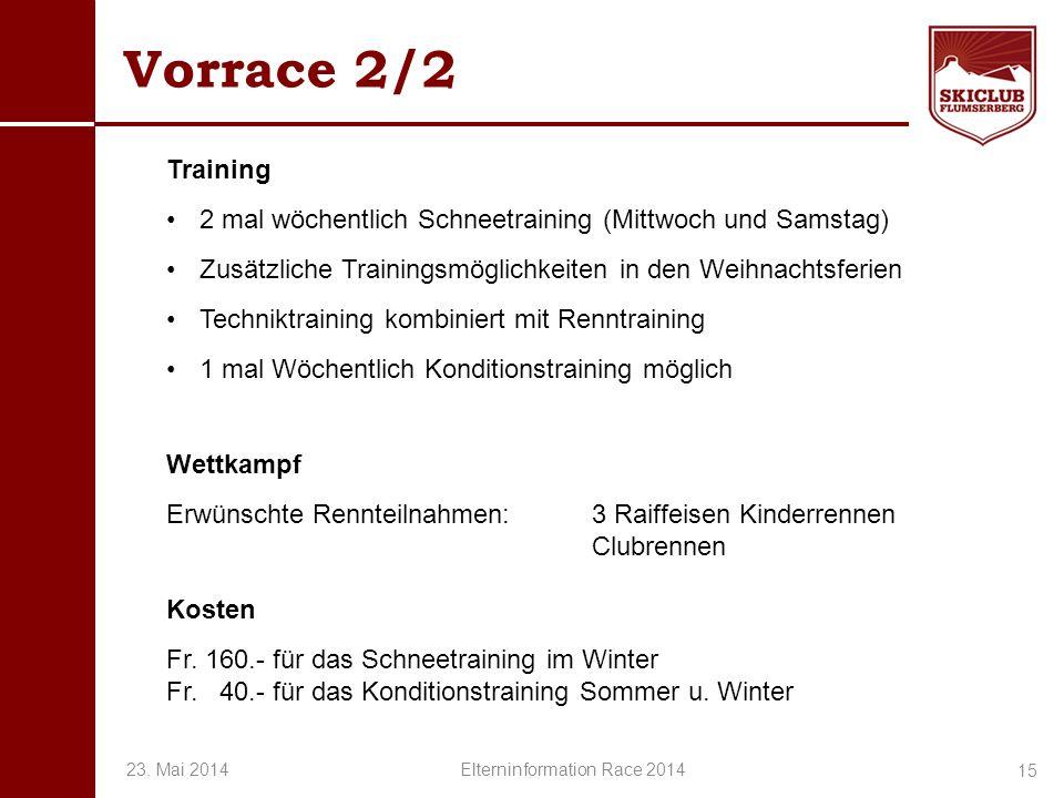 O+IO+I Vorrace 2/2 Training 2 mal wöchentlich Schneetraining (Mittwoch und Samstag) Zusätzliche Trainingsmöglichkeiten in den Weihnachtsferien Technik