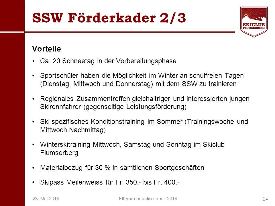 O+IO+I SSW Förderkader 2/3 Vorteile Ca. 20 Schneetag in der Vorbereitungsphase Sportschüler haben die Möglichkeit im Winter an schulfreien Tagen (Dien