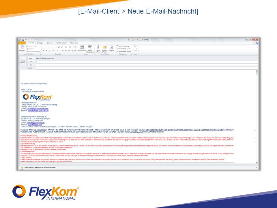 [E-Mail-Client > Neue E-Mail-Nachricht]