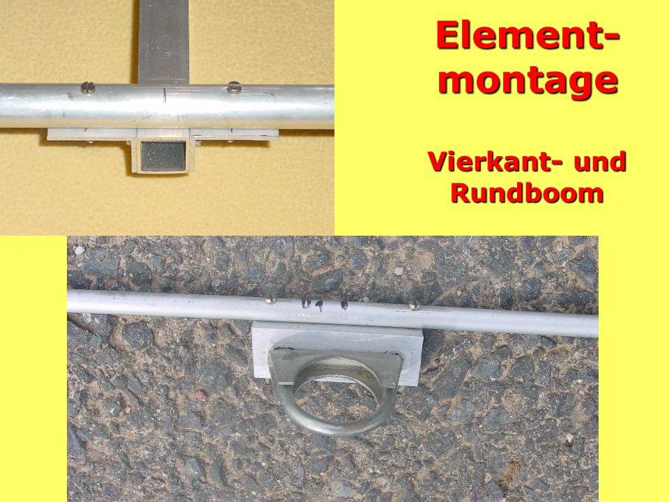 Alternatives Strahlermittelstück Befestigung mit Isolierrohr außen und Auspuffschellen