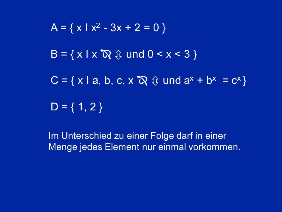 Die unendliche Menge der endlichen Zahlen ô besitzt die kleinste transfinite Kardinalzahl À 0.