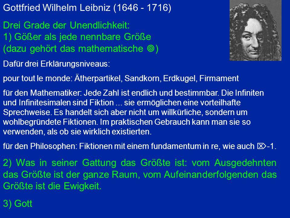 Leibniz Je suis tellement pour l infini actuel, qu au lieu admettre que la nature l abhorre, comme l on dit vulgairement, je tiens qu elle l affecte partout, pour mieux marquer les perfections de son Auteur.
