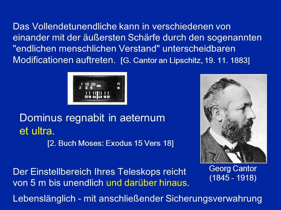 Galileo Galilei (1564 - 1642) Das Unendliche sollte eine andere Arithmetik befolgen als gewöhnliche Zahlen.
