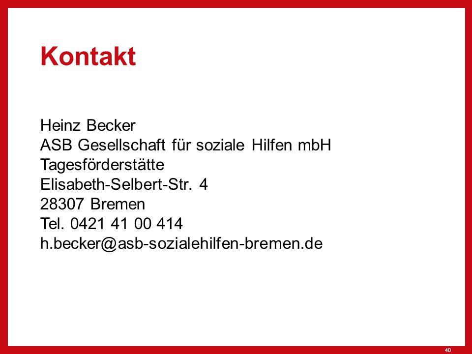 Kontakt Heinz Becker ASB Gesellschaft für soziale Hilfen mbH Tagesförderstätte Elisabeth-Selbert-Str.