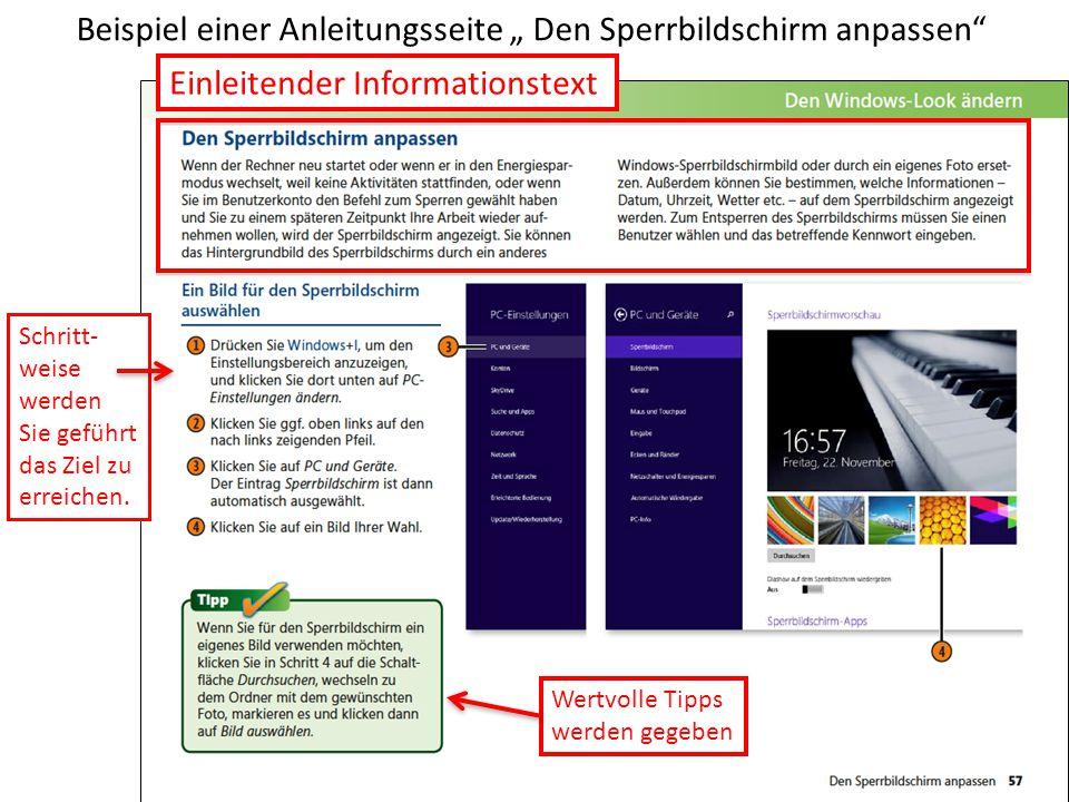 """""""Anpassen vom """"Desktop aus Anpassen Farbwahl Farbwahl der Fensterrahmen Wahlmög- lichkeiten Nächste Folie Desktop"""