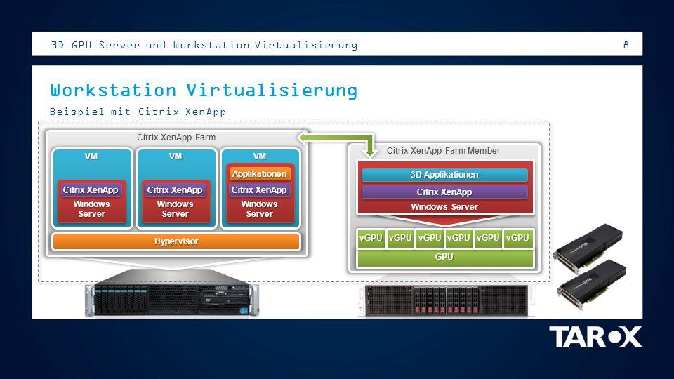 8 Citrix XenApp Farm Member Citrix XenApp Farm Hypervisor VM Windows Server Citrix XenApp ApplikationenApplikationen VM Windows Server Citrix XenApp V