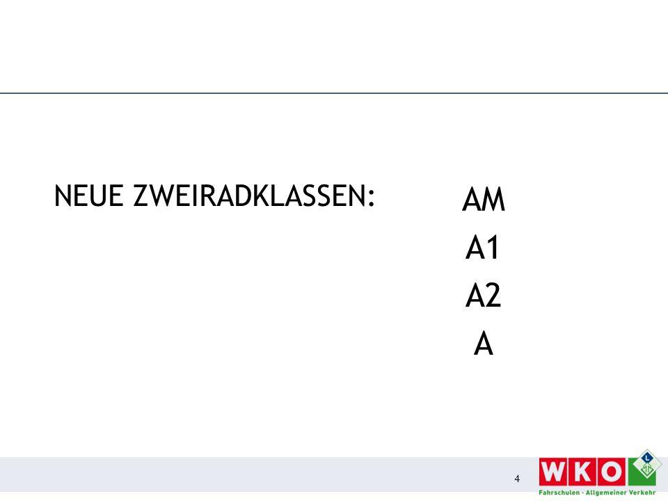 Klasse AM (Moped)  Frist bis 18.01.2013 für Ausweis in der bisherigen Form bis 18.01.2013  Scheckkartenführerschein – Mehrkosten (€ 60,50).