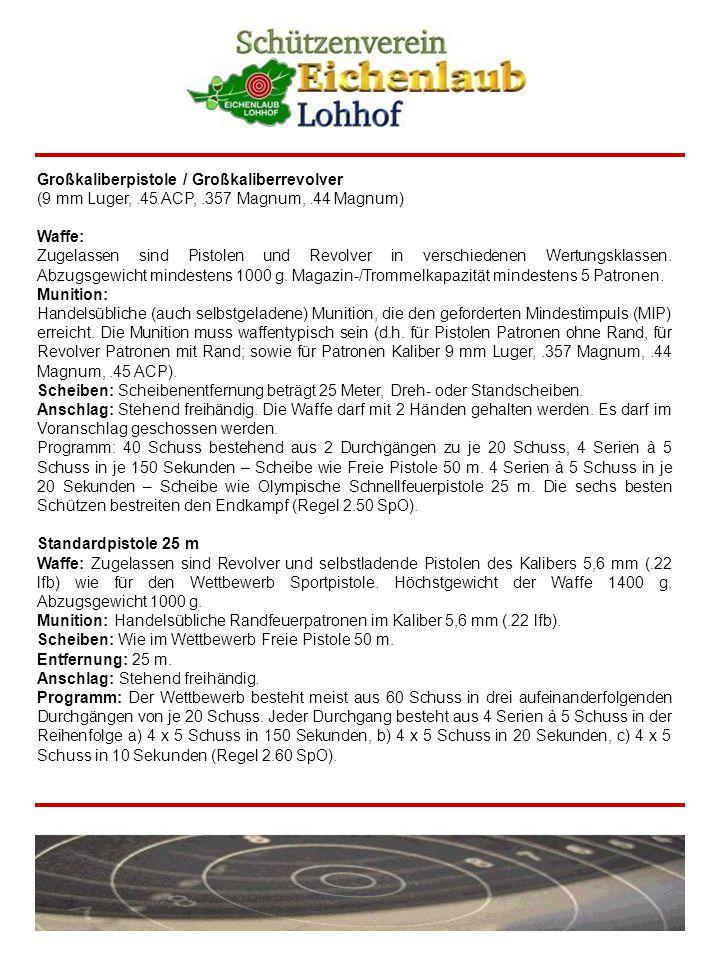 Freie Pistole 50 m Waffe: Alle Pistolen und Revolver des Kalibers 5,6 mm (.22 lfb).