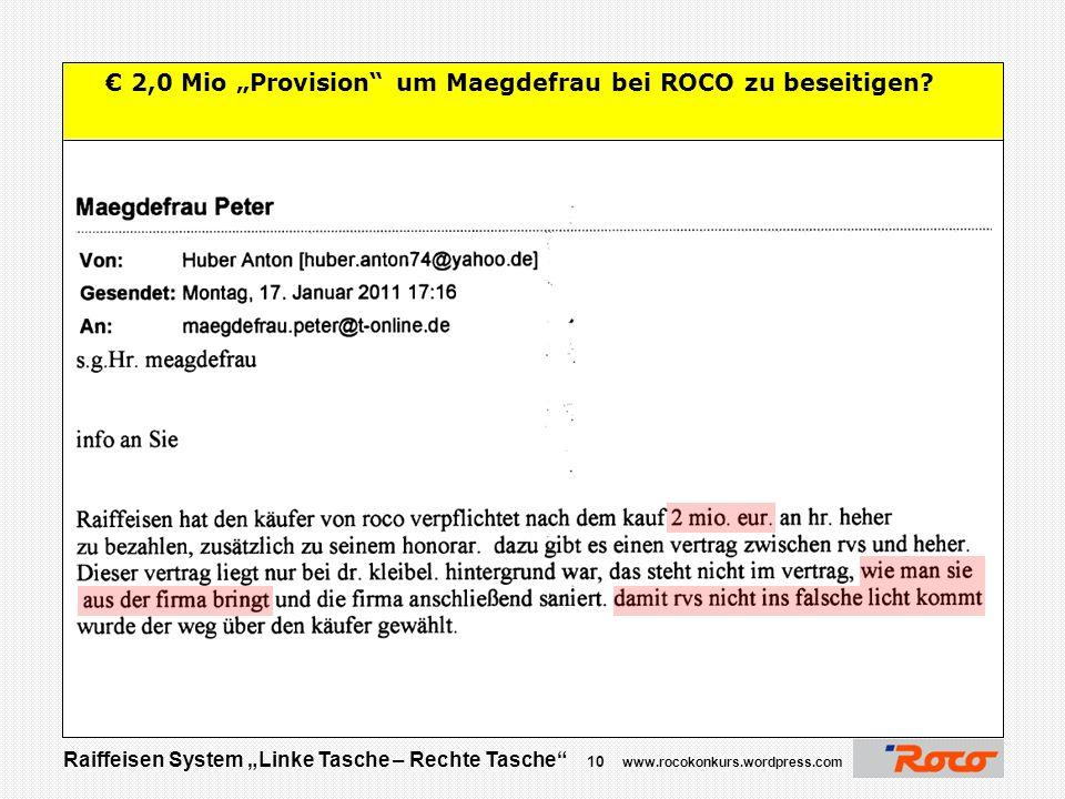 """Raiffeisen System """"Linke Tasche – Rechte Tasche"""" 9 www.rocokonkurs.wordpress.com Danke für Ihre Aufmerksamkeit  Jetzt sind Sie am Zug …. Raiffeisen w"""